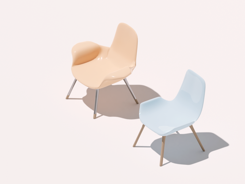 Isometric Chairs cyclesrender cycles lighting isometric illustration isometric models chairs chair illustration modelling practice blender3d b3d 3d art 3d design