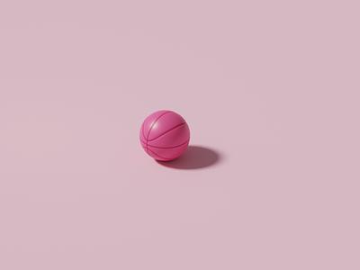 Dribbble ball basketball logo dribbble pink basketball isometric cyclesrender cycles modelling illustration practice 3d art blender3d b3d 3d design