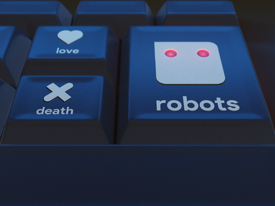 Love Death Robots Reverse blender3d tribute netflix love death robots robots death love design 3d