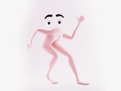 Surprise! red handed caught sneaking sneak eyes legs hands limbs surreal illustration blender3d design 3d