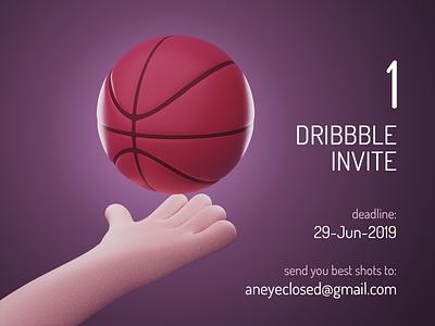 1 Dribbble Invite Giveaway invite giveaway invites draft giveaway invitation dribbble invite
