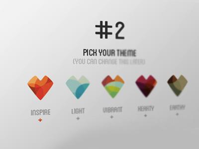 Inspire - interface elements ui colour inspiring
