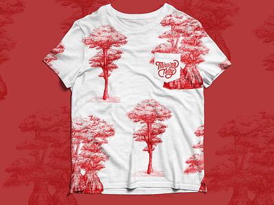 Missing Tally T-shirt drawing plant illustration pattern design logo fashion design fashion digital art tallahassee florida illustration
