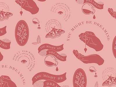 You Might Be Dreaming magic dream pink vector logo logo design inspiration designer dribbble design digital art illustration
