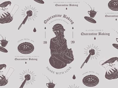 A Loving Guide to Quarantine Baking food illustration baking magic graphicdesign zine logodesign vector illustrator dribbble design digital art illustration