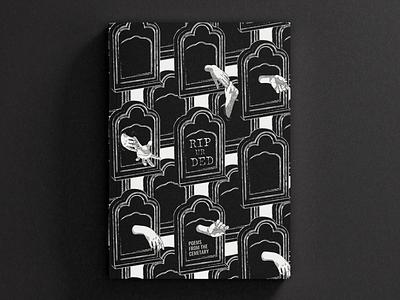 RIP UR DED | Book Cover vector graphic design mockup blackandwhite october spooky pattern book design dribbble design digital art illustration