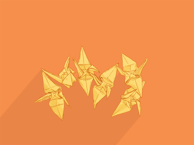 Paper Cranes By Brittany Gress Dribbble Dribbble