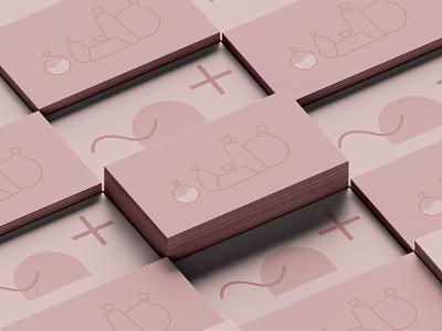 Rosemary pink logo pattern design rosemary pink branding vector logo illustration