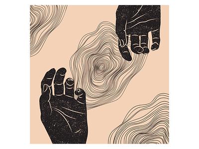 Plato's Cave drawing digital illustration black texture hands illustration digital art