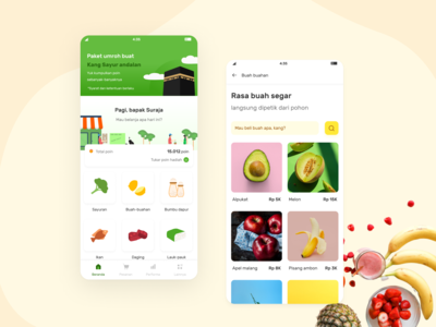 Kang sayur app concept
