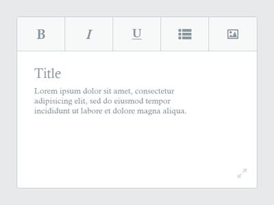Post Editor - Concept