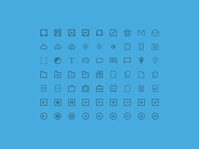 63 Free Icons free icon set freebie inbox trash mail letter cloud download upload brightness