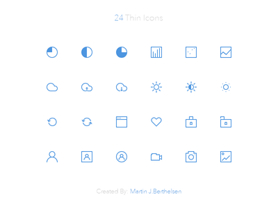 24 Thin Icons v2 free icon set freebie cloud download upload brightness contrast