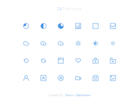 24 Thin Icons v2