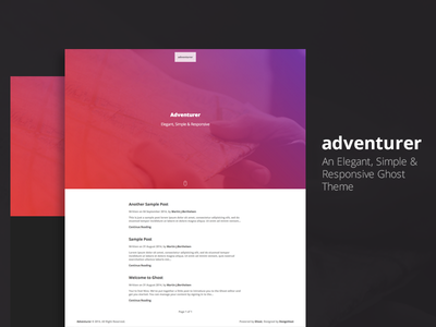 Adventurer - Ghost Theme adventurer ghost blog theme template simple elegant responsive