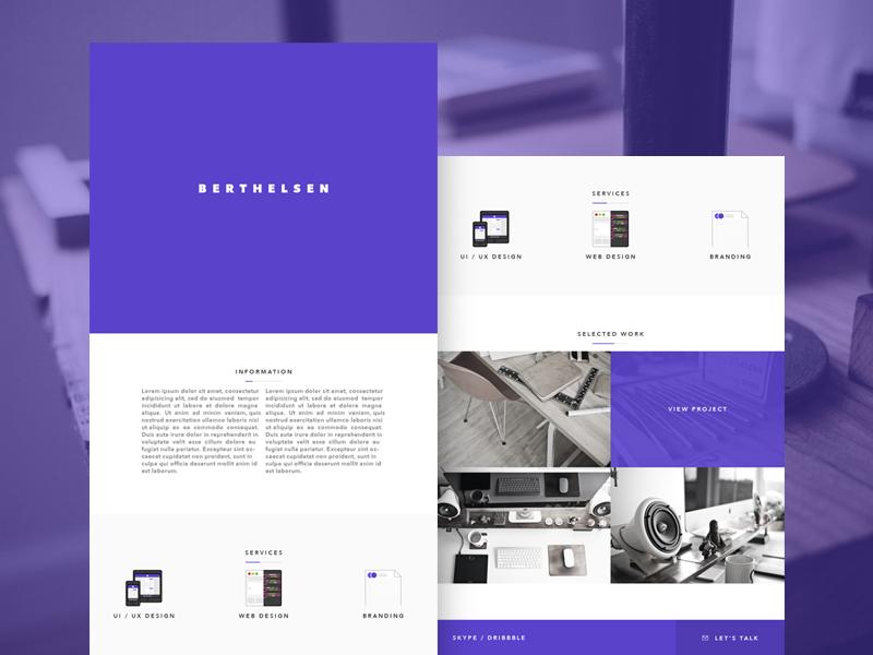 Website Design personal website minimal clean design ui