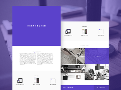 Website Design personal website minimal clean design ui