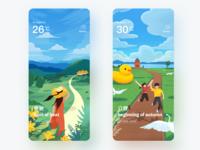 Illustration of 24 solar terms green summer ui design china color illustration