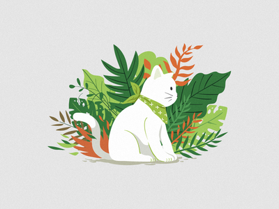 Cat&Botany botany imagine illustration cat