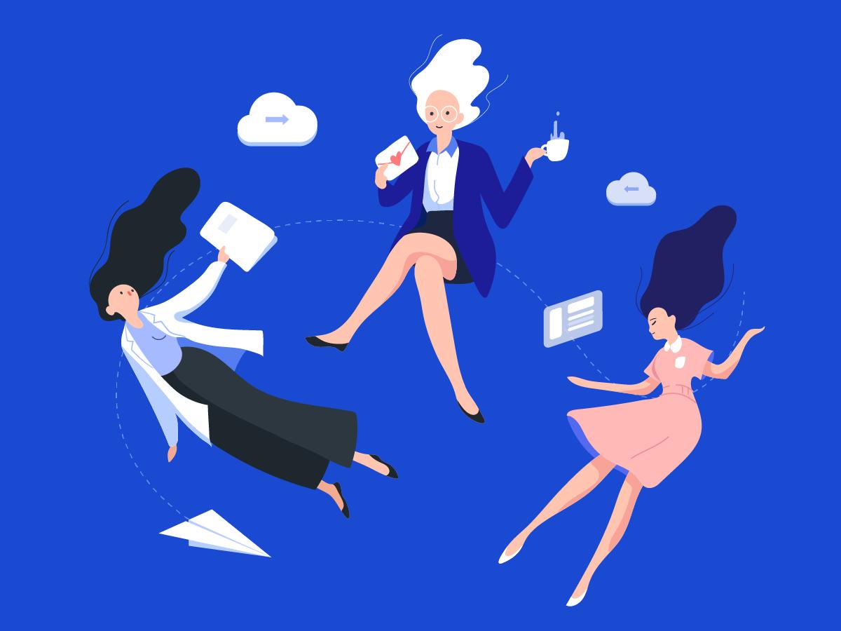 Working work illustration