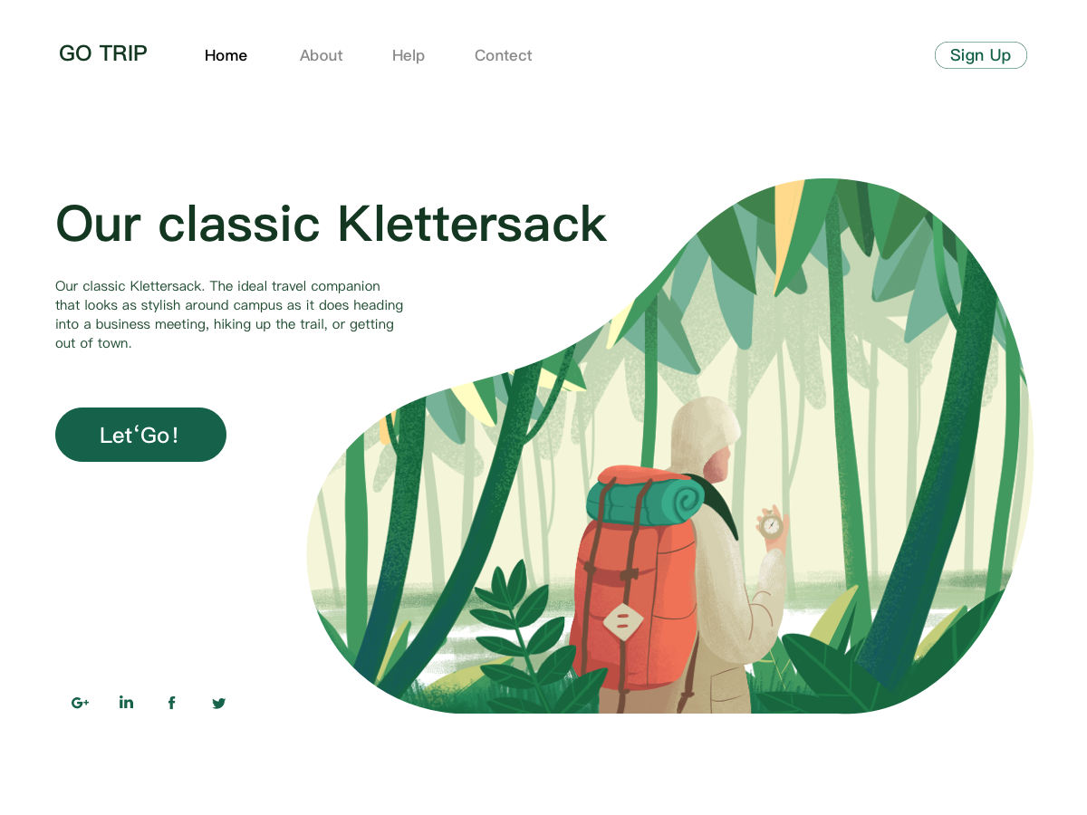 Our classic Klettersack travel forest green tree imagine illustration classic klettersack