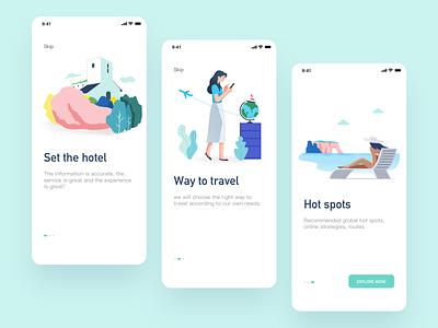 Mobile app - Travel diary app mobile colors ui design illustration