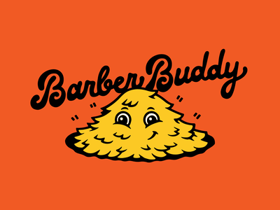 Barber Buddy haircut character cartoon typography lettering illustration barbershop clippings hair barber