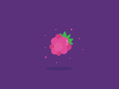 Floating Raspbeezzy berry vector food doodle illustration icon fruit raspberry