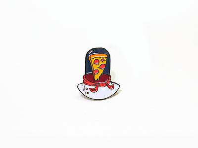 Pizza Astronaut Pin outer space helmet lapel pin za space astronaut lapel pin pizza
