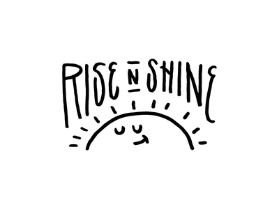 What to do in the A.M. badge lettering typography shine sun