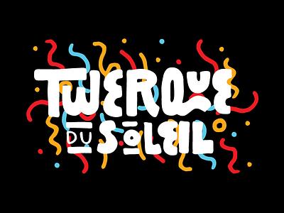 Twerque Birthday Edition Type logo typography confetti birthday pattern lettering type