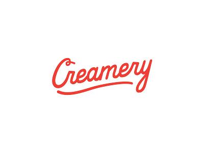 Creamery logo script lettering wordmark typography dairy cheese