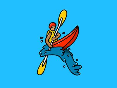 K is for k splash river outdoors canoe watersports kayak