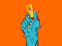 Carmex Halloween Hand #1