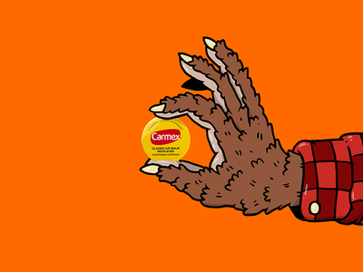 Carmex Halloween #2 illustration monster werewolf carmex lip balm product halloween