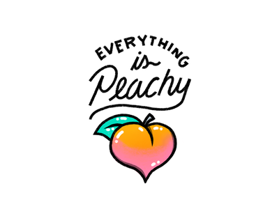 Even on a cloudy day. butt shiny motto mantra doodle script lettering badge illustration icon fruit peach