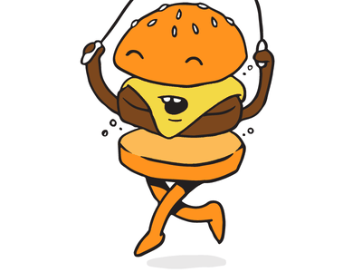Burger Bounce character burger