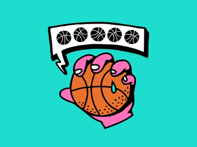 That's a Slam Dunk! character icon doodle hand drawn cartoon 2d vector illustration hand sports ball dunk basketball
