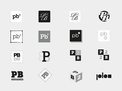 P.B. Squared Logo Concepts logo symbol branding