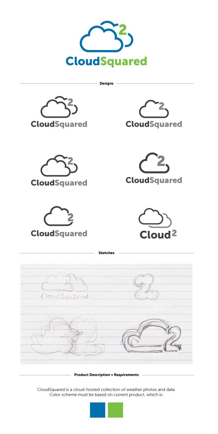 Cloud squared logo progression