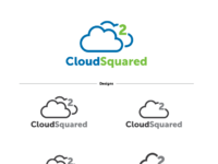 Cloud squared logo progression