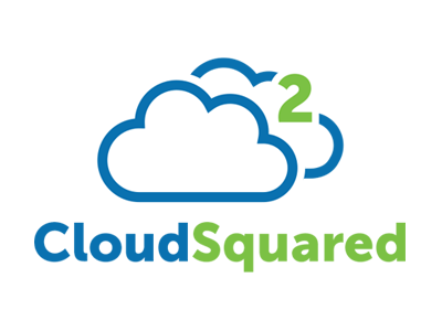 CloudSquared logo weather logo