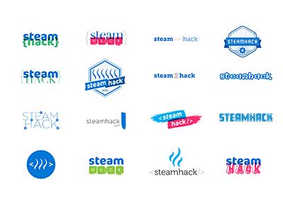 Steamhack Logo Concepts hackathon logo