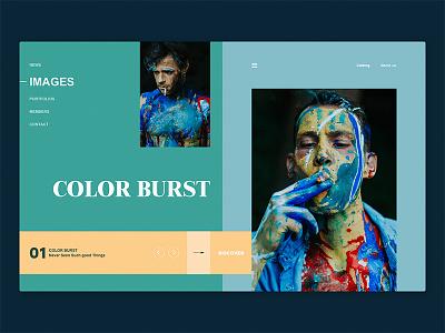 Experimental Website color page home ui web