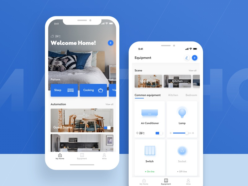 Smart Home-1 design technology app icons smart home card color ux ui