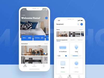 Smart Home-1 design technology app icons smart home card color ux ui