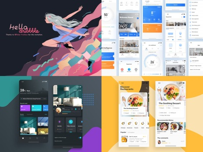 My TOP4 in 2018 color design smart home icons app illustration ui