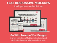 Flat Responsive Mockups