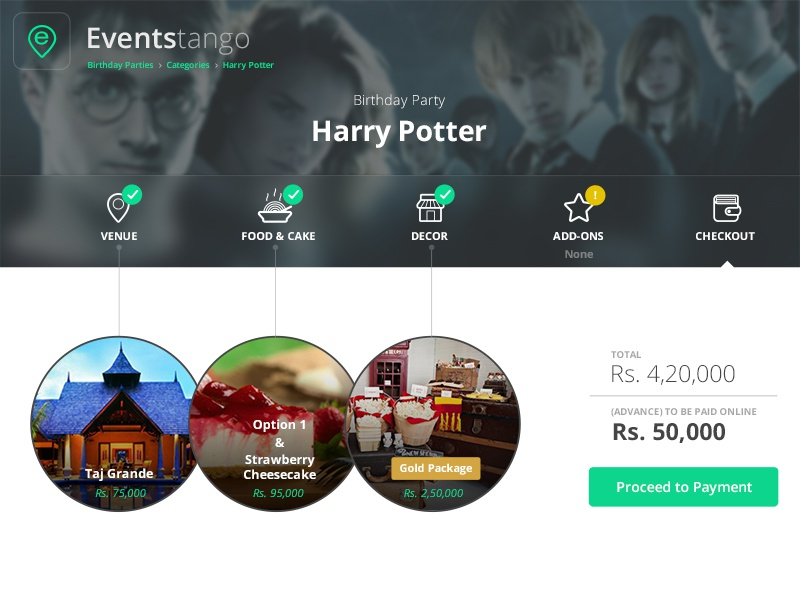 Events Tango - Checkout Summary Page events plan party pictures web 2014