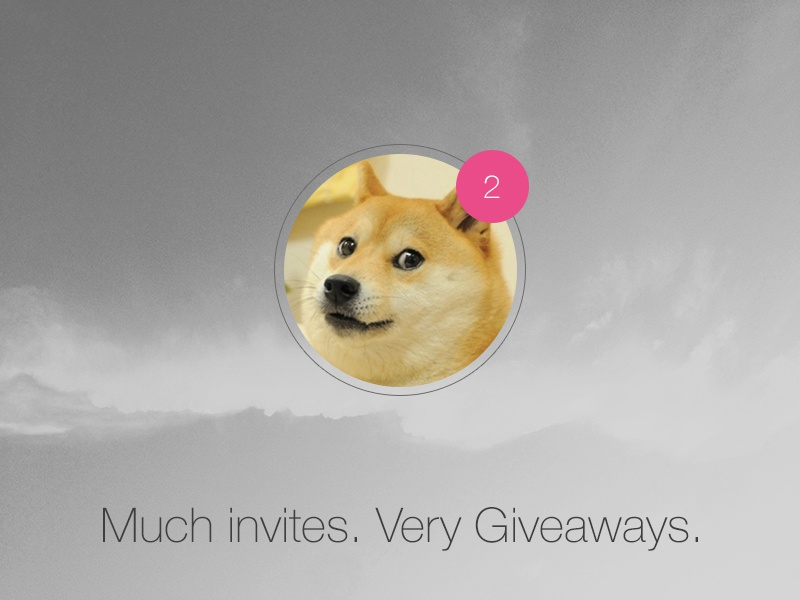 Dribbble Invites - Giveaway dribbble invite giveaway doge wow